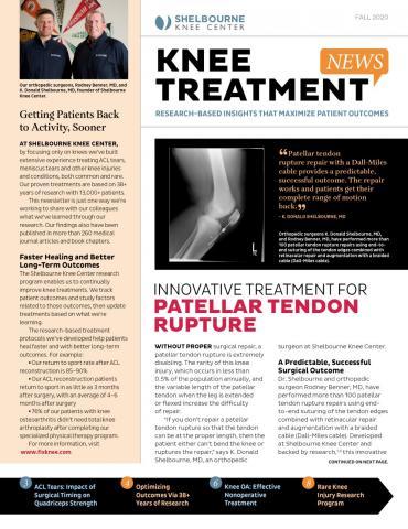 Innovative Treatment For Patellar Tendon Rupture